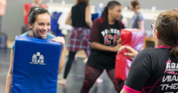 Womens Self-Defense Class Technqiue Practice