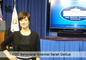 CDC Behavioral Scientist Sarah DeGue